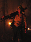 Photographer on Assignment Covering Forest Fires Photographic Print by Mark Thiessen