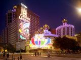 Famous Casino Lisboa, Built in the 1960S Reprodukcja zdjęcia autor xPacifica