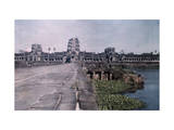 This Image Shows the Ancient Capital of Cambodia, Angkor Lámina fotográfica por Courtellemont, Gervais
