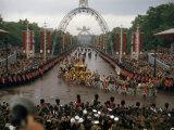 Queen Elizabeth II Returns to Buckingham Palace in Coronation Coach Photographic Print by David Boyer