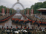 Royal Canadian Mounted Police Parade on the Mall on Coronation Day Photographic Print by David Boyer