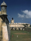 Golf Course at El Morro Is Laid Out in the Fortress's Old Moat Photographic Print by Edwin L. Wisherd