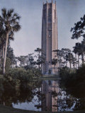Water Reflects the Singing Tower on Top of the Iron Mountain Photographic Print by Clifton R. Adams