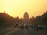 Capital Building in New Delhi, India, at Sunset Photographic Print by  xPacifica