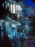 Balconies Dominate a Street in Old Cartagena, Colombia Photographic Print by O. Louis Mazzatenta