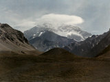 Clouds Rest Atop the Highest Point in the Western World, Aconcagua Photographic Print by Jacob Gayer
