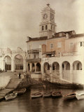 View of Ponta Delgada's City Gates and Clock Tower Fotografiskt tryck av Wilhelm Tobien
