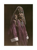 Young Kashmiri Girl Poses in Her Traditional Attire Photographic Print by Franklin Price Knott
