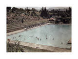 South African Locals Swim in an Outdoor Pool in the Middle of January Photographic Print by Melville Chater