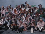 Group of Costumed Men Pose before the Gasparilla Festivities Photographic Print by Clifton R. Adams