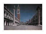 View of an Italian Square with Numerous Architectural Treasures Photographic Print by Hans Hildenbrand