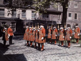 Part of the Company of Yeomen Preparatory, known as Beefeaters Photographic Print by Clifton R. Adams