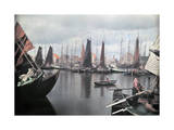 View of the Volendam Harbor on the Zuider Zee Photographic Print by Franklin Price Knott