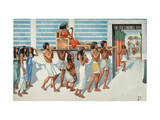 Dowager Queen Pays a Call on Her Son, King Khufu Giclee Print by H.M. Herget