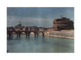 View of Rome from across the Tiber River Photographic Print by Hans Hildenbrand