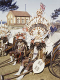 Rickshaw Pullers Dress in Very Elaborate Costumes Photographic Print by W. Robert Moore