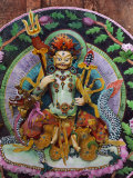 This Butter Sculpture Portrays Dzon Ker, a Tibetan Deity of Wealth Photographic Print by Dr. Joseph F. Rock