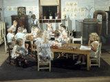 Children Play in a Day Nursery at a Textile Mill Fotografisk trykk av Joseph Baylor Roberts
