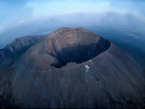Aerial View over Mount Vesuvius Reveals its Gaping Crater Photographic Print by O. Louis Mazzatenta