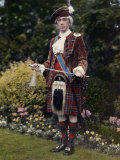 Man Imitates Bonnie Prince Charlie Who Besieged Carlisle in 1745 Photographic Print by Clifton R. Adams