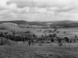 View of the Rolling Hills in the Allegheny Mountains Photographic Print by Edwin L. Wisherd