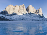 Scenic View of Sail Peaks and Stewart Valley on Baffin Island Photographic Print by John Dunn