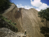 Bulldozer Works on Nicaragua-Honduras Stretch of Pan-American Highway Photographic Print by Luis Marden