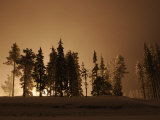 Light Pollution from a Night Ski Area Fills the Sky on Mt. Hood Photographic Print by Jim Richardson