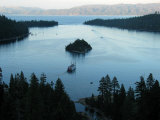 Cruise Boat for Sight-Seers Takes a Ride in Emerald Bay, Lake Tahoe Photographic Print by Charles Kogod