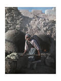 Pueblo Woman Puts Bread into an Oven in Preparation for Corn Dance Photographic Print by Franklin Price Knott