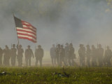 Reenactment of the Civil War Battle of Franklin Photographic Print by Michael Melford