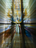 Zoom Special Effect of a Church Stained Glass Window Photographic Print by Mattias Klum