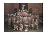 Balinese Dancers Pose for a Picture before their Performance Photographic Print by Franklin Price Knott