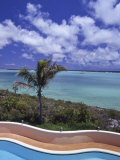 Blue Waters of a Swimming Pool and Ocean in the Turks and Caicos Photographic Print by Greg Dale