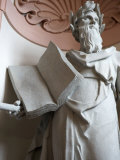 Sculpture with Open Book Stands Tall in the Melk Abbey Photographic Print by  Keenpress