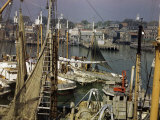 Commercial Fishing Boats of All Sizes Crowd the Town&#39;s Busy Harbor Photographic Print by B. Anthony Stewart