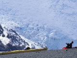 Camping Next to a Glacier on a Sea Kayak Trip Photographic Print by Kate Thompson