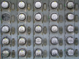 Array of Electric Power Meters at a Boat Dock Photographic Print by Greg Dale