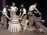 Malaysian Coopers Work Making Barrels at a Winery Photographic Print by W. Robert Moore