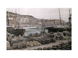 View of the Boats in the Harbor of Cannes Photographic Print by Hans Hildenbrand