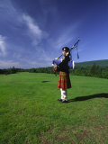Bagpiper at a Gaelic Mod Held at Gaelic College Near Baddeck Photographic Print by Michael Melford