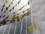 Pokhara, Nepal, Asia- Prayer Flags Wave in the Breeze Photographic Print by  Keenpress