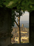San Gimignano, Tuscany, Italy- View of Town Seen Through a Window Photographic Print by  Keenpress