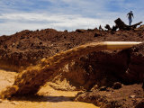 Bauxite Mine in the Indonesian Province of West Kalimantan Photographic Print by Mattias Klum
