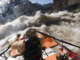 Man Rowing Through the Rapids of the Colorado River in a Raft Photographic Print by Pete McBride