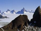 Holtedahl Mountains Frame Mount Ulvetanna and Fenris Mountains Photographic Print by Gordon Wiltsie