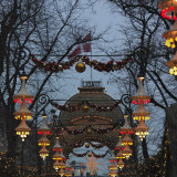 Tivoli Gardens During Christmas Season at Night Photographic Print by Keenpress