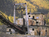 Old Gold Dredge Photographic Print by Michael Melford