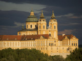 Late Evening Sunset View of Melk Abbey Photographic Print by  Keenpress