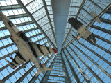 Two Vintage Aircraft Hanging in the Atrium of the Marine Corps Museum Photographic Print by Scott Sroka